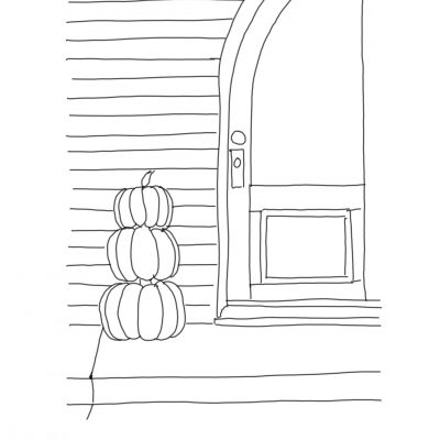 pumpkins door