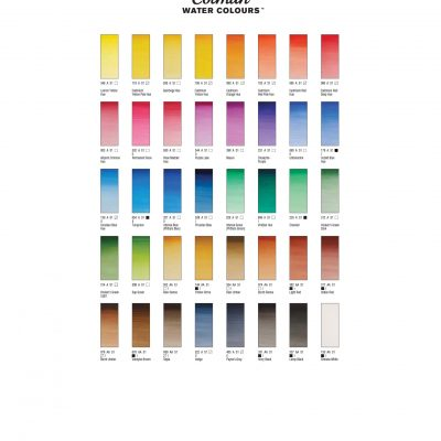W&N Cotman color chart