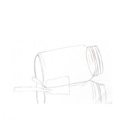 jar at beach_ sketch