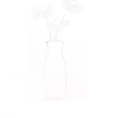spring in vase_shetch